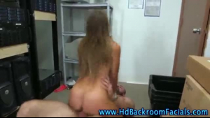 Kinky blonde, Michelle King Ride sucks hard and gets fucked hard on the office chair