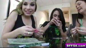 Bitch wants to get high and orgasm from her cock sucking